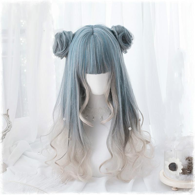"""HARAJUKU COS LOLITA GRADIENT BLUE"" LONG WIG K102310"