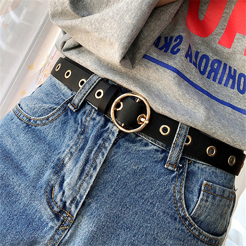 """CHIC ROUND BUCKLE"" BELT K071506"