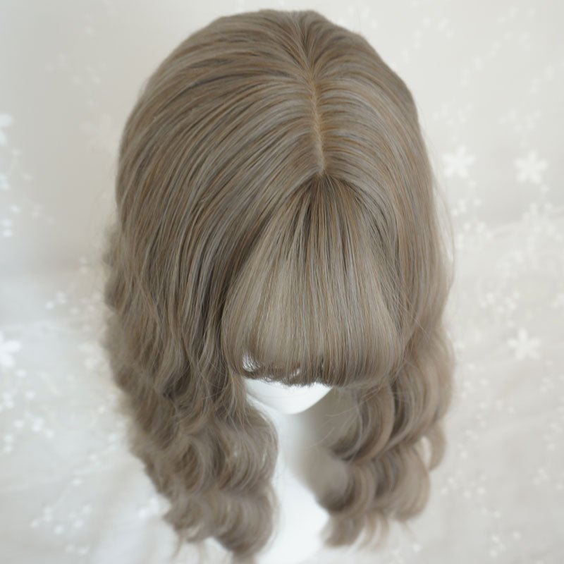 """AIR BANGS"" MEDIUM LONG ROLL WIG K082213"