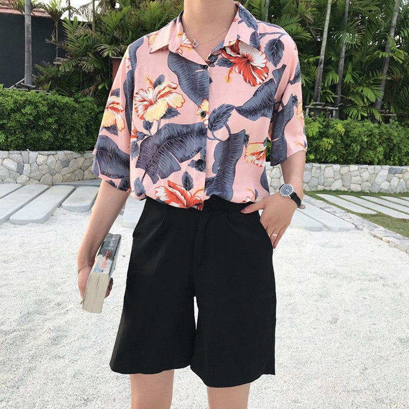 """HARAJUKU FLOWER"" SHIRT W010305"
