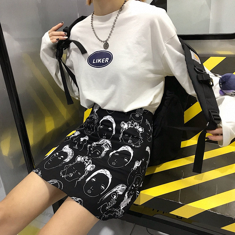 """CARTOON PRINTING"" A-LINE SKIRT W040502"
