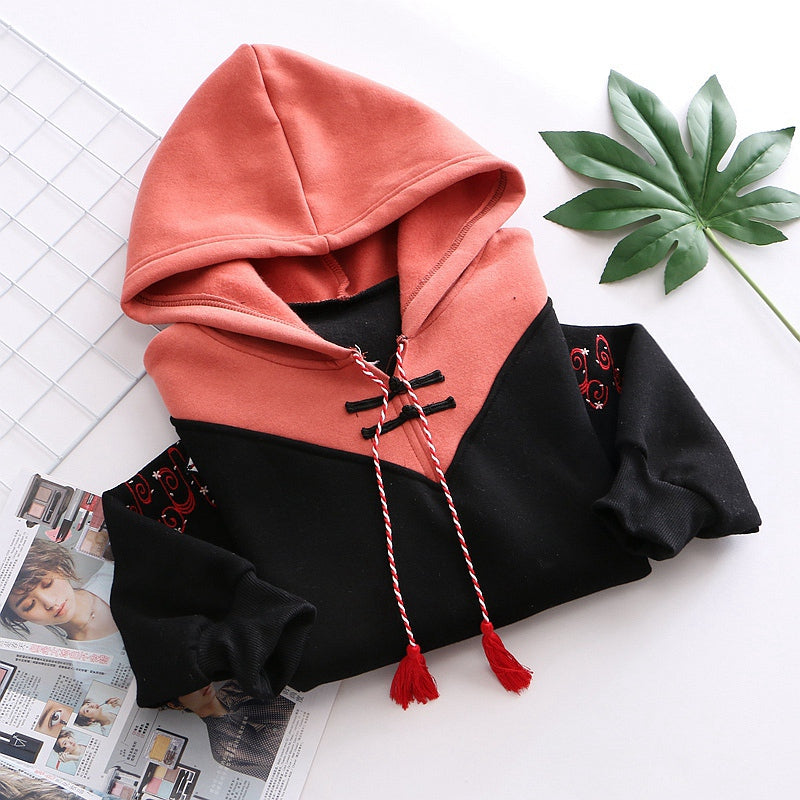 """FOX EMBROIDERED"" HOODIE N102209"