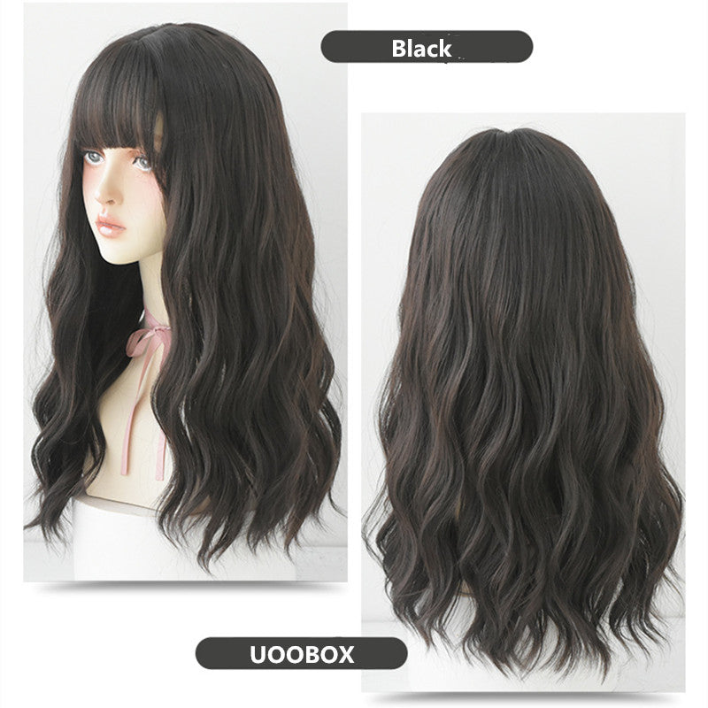 """FOUR COLOR NATURAL FLUFFY LONG CURLY"" WIG N041403"