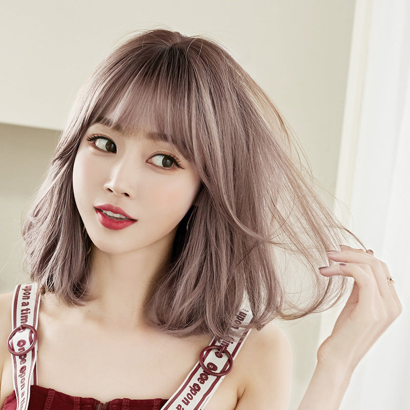"""FOUR COLORS NATURAL FLUFFY SHORT CURLY"" WIG N041405"