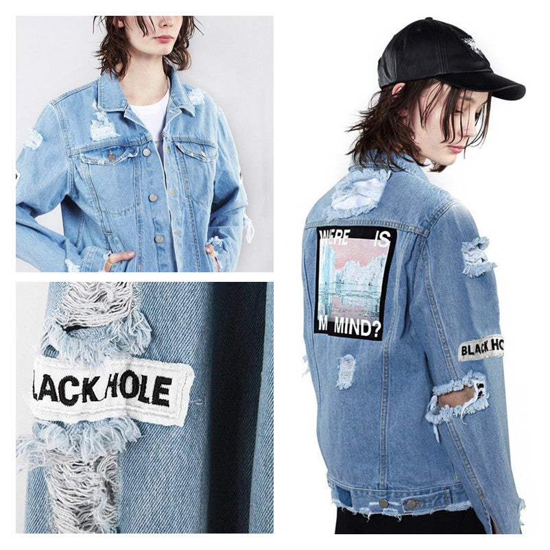 """WHERE IS MY MIND"" DENIM JACKET K031203"