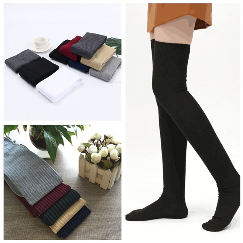 """SEVEN COLOR KNITTED LONG"" SOCKS N082709"