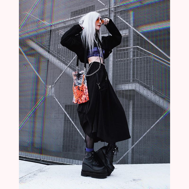 "[ @kimiperi ]""BUTTERFLY ORANGE CHAIN"" PVC BAG D050803"
