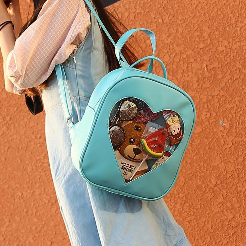 """TRANSPARENT HEART"" BACKPACK W010520"