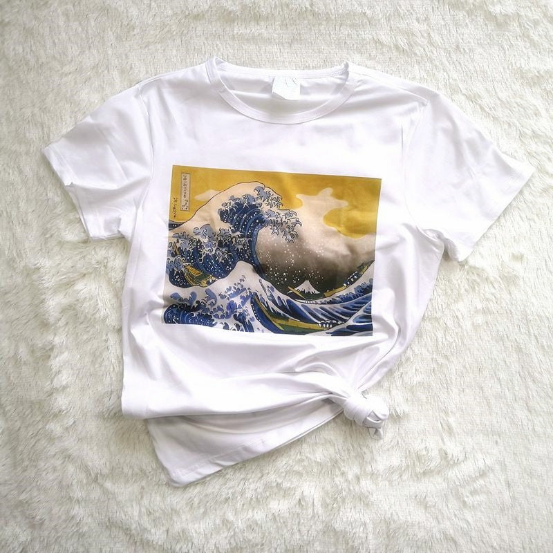 """GREAT WAVE"" T-SHIRT K030702"