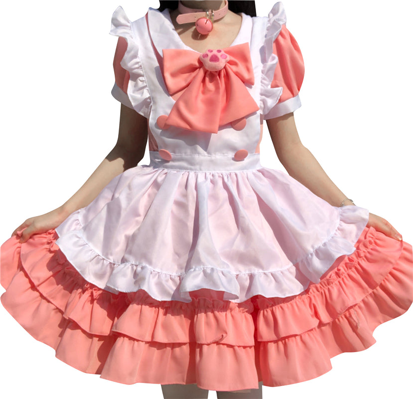 """LOLITA CUTE CAT PAW BOW PINK MAID"" OUTFIT N022408"