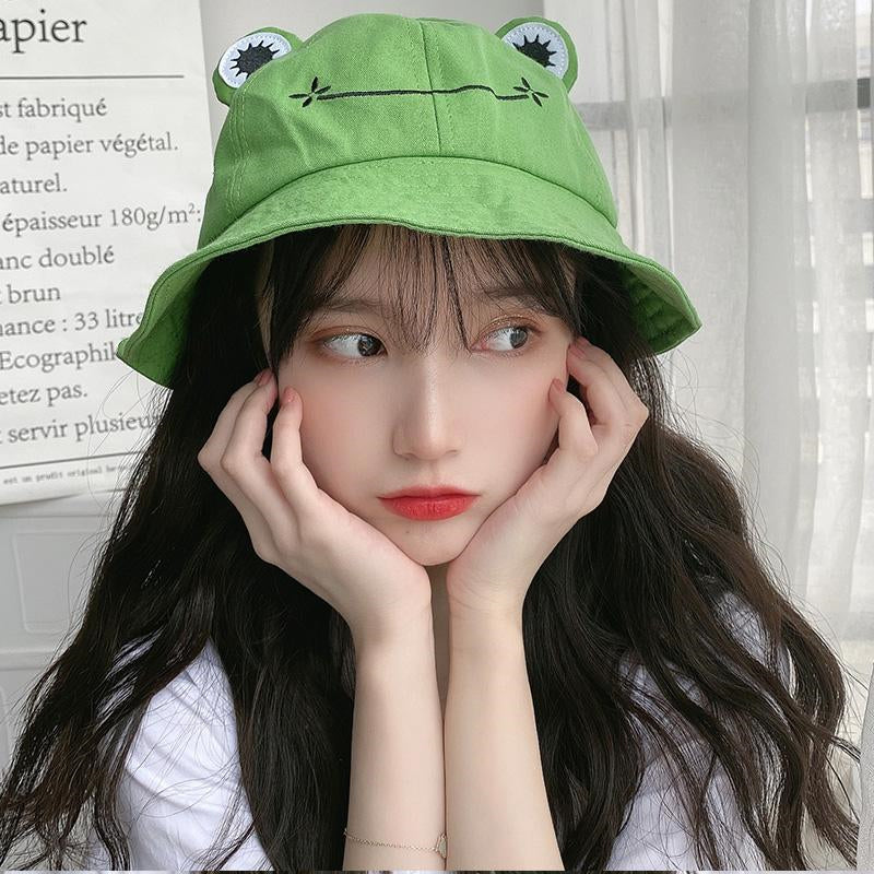 """CUTE FROG SMILEY"" BUCKET HAT N031604"