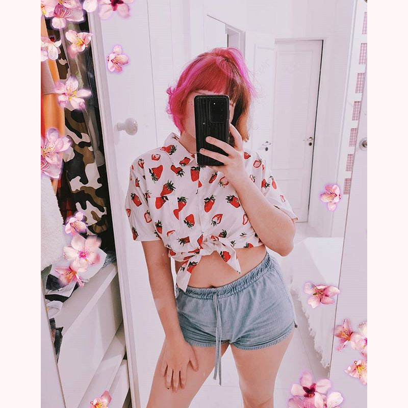 "[@dearlaissv] ""STRAWBERRY"" SHIRT W010504REVIEW"