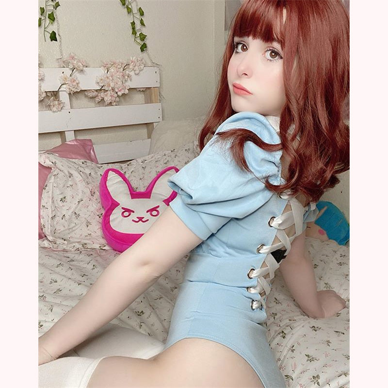 """PUFF SLEEVE SEXY"" ONE PIECE BODYSUIT K070406"