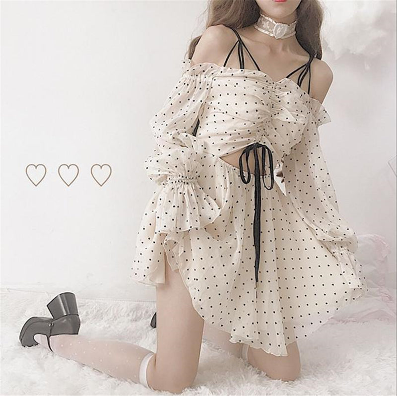 """CHIC POLKA DOT"" DRESS W042602"