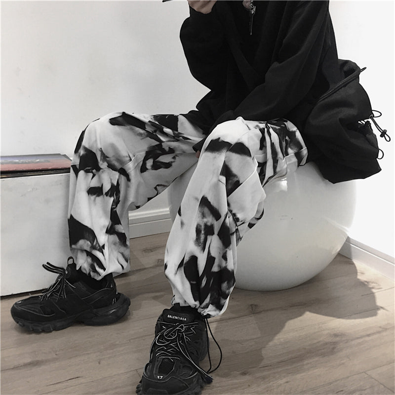 """TRADITIONAL TIE-DYEING ART"" LOOSE PANTS S031203"
