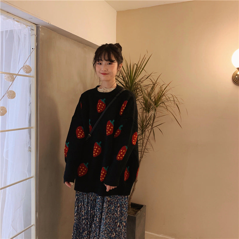 """STRAWBERRY"" SWEATER W112014"