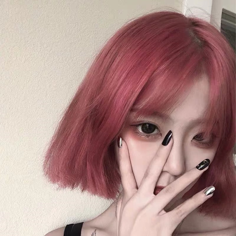 """Cute Pink Pink"" Short Straight Wig S033006"