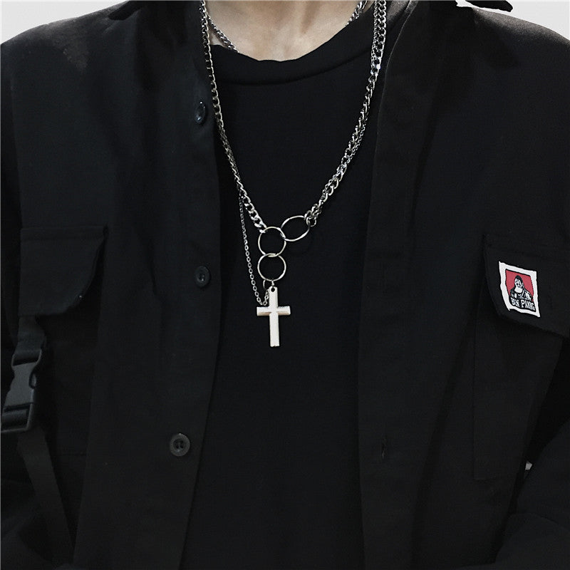 """HIP HOP CROSS"" NECKLACE S031006"