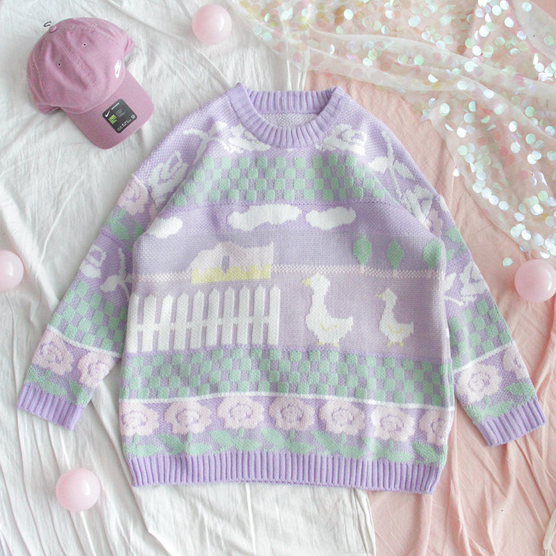 """CUTE DUCK"" SWEATER W110706"