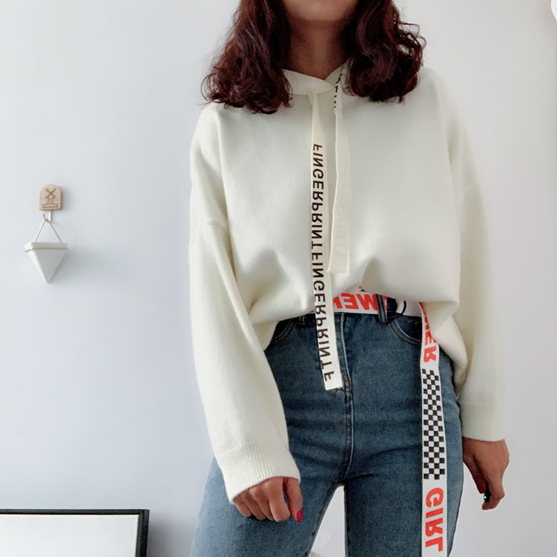 """FASHION LETTERS"" CANVAS BELT S020804"