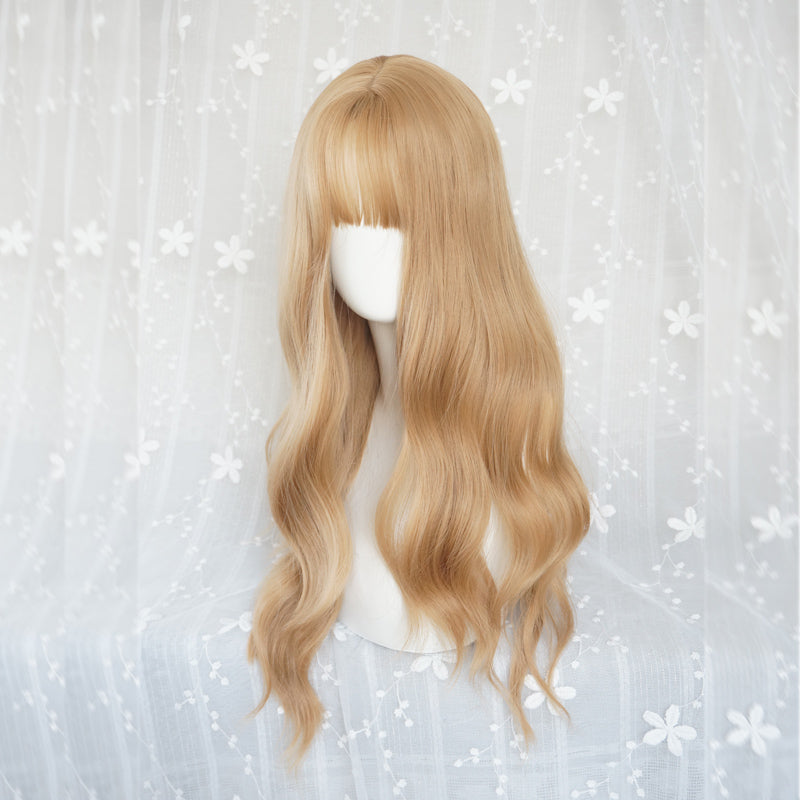"""LOLITA MULTICOLOR NATURAL"" LONG CURLY WIG S033002"
