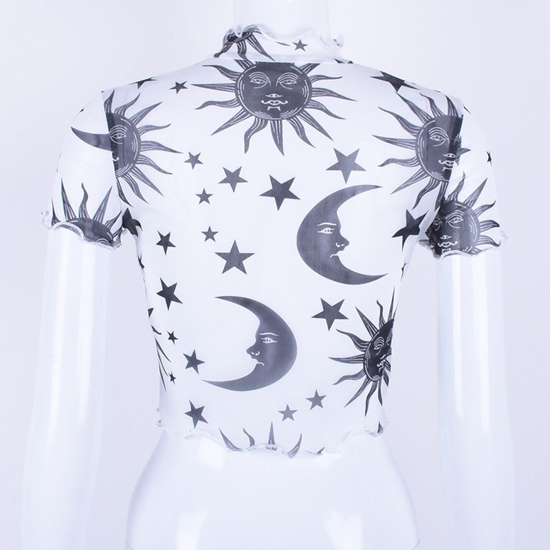 "[@fatty_side] ""SUN MOON STAR "" MESH T-SHIRT K052101REVIEW"
