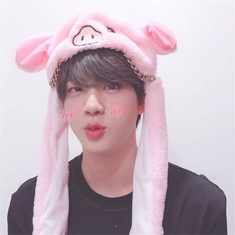 """RABBIT & PIG"" HAT W040805"