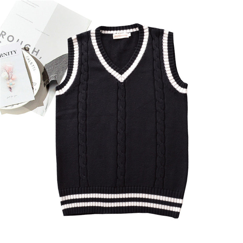 """JK TWIST COLOR SWEATER"" VEST N081405"