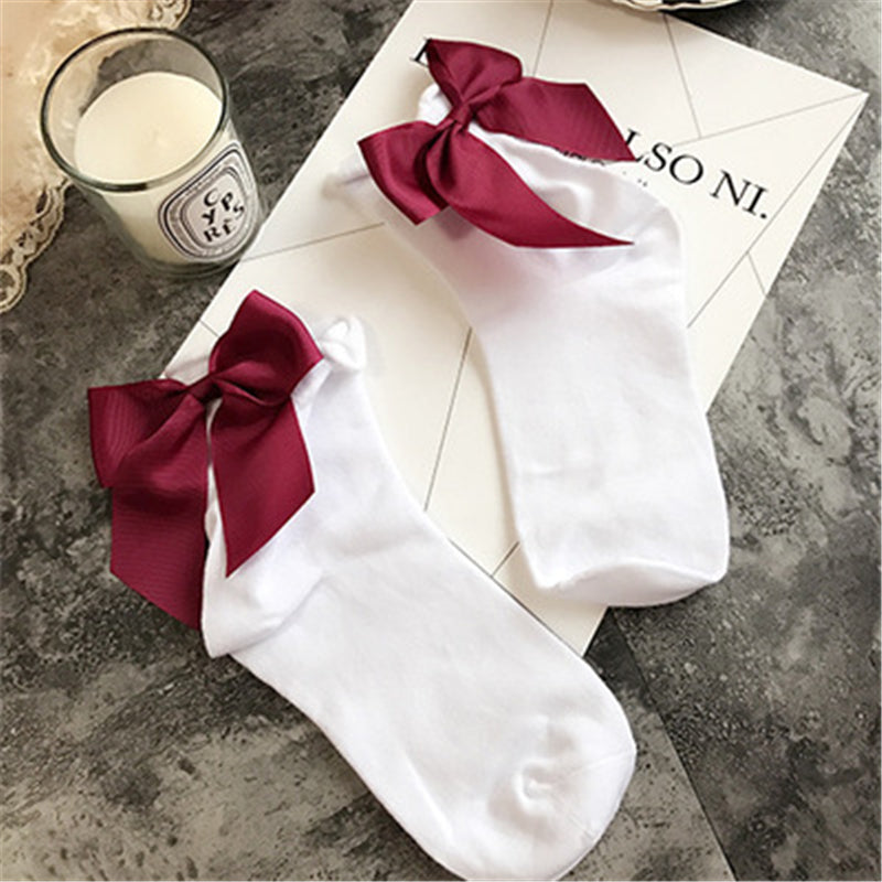 """CUTE BOW-KNOT"" SOCKS W010221"