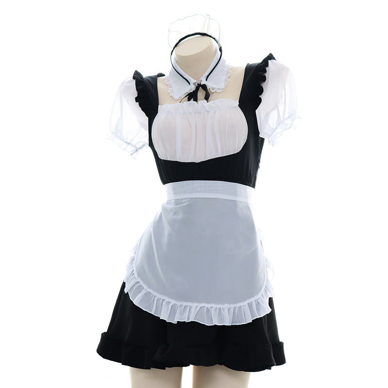 """BLACK WHITE TRANSLUCENT"" MAID OUTFIT N031505"