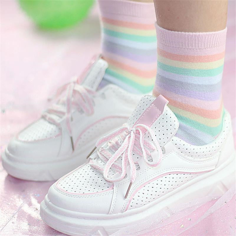 """PASTEL RAINBOW"" SOCKS W010404"