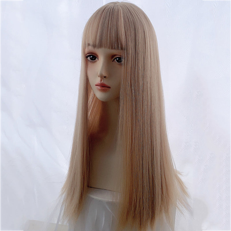 """LOLITA STRAIGHT BANGS MILK TEA PLATINUM"" WIG N101303"