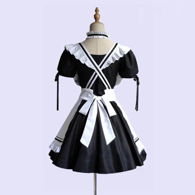 """CUTE LOLITA BLACK WHITE"" MAID OUTFIT N010802"