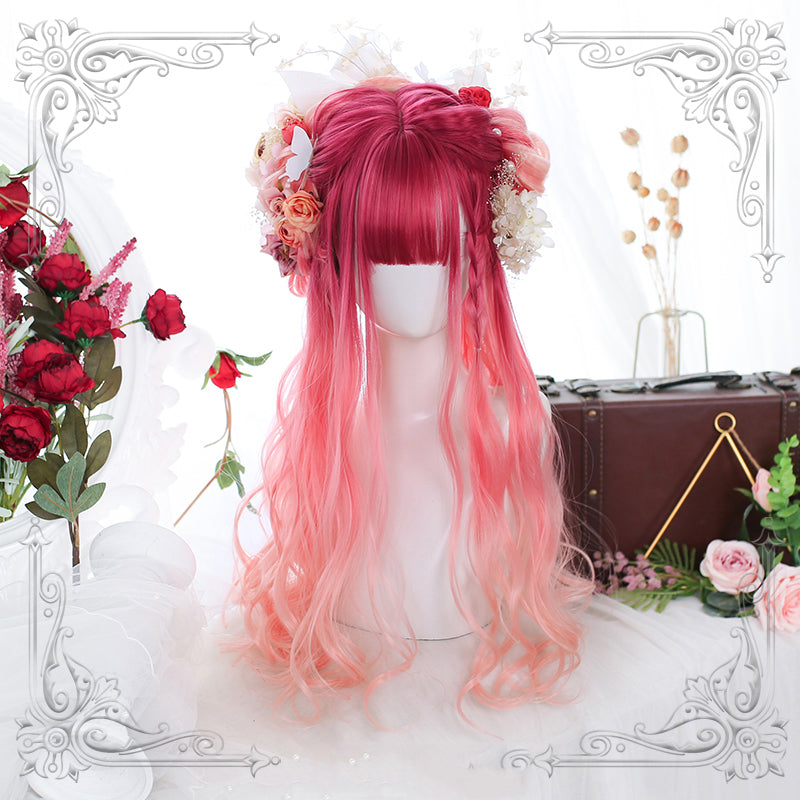 """LOLITA PINK GRADIENT LONG CURLY"" WIG N101502"