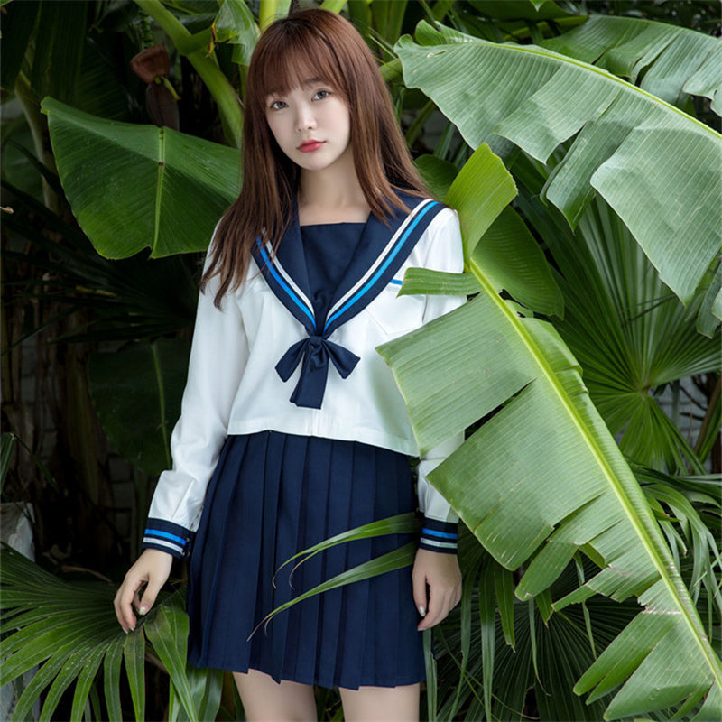 """JK SNOWFLAKE EMBROIDERY SAILOR"" SUIT N082704"