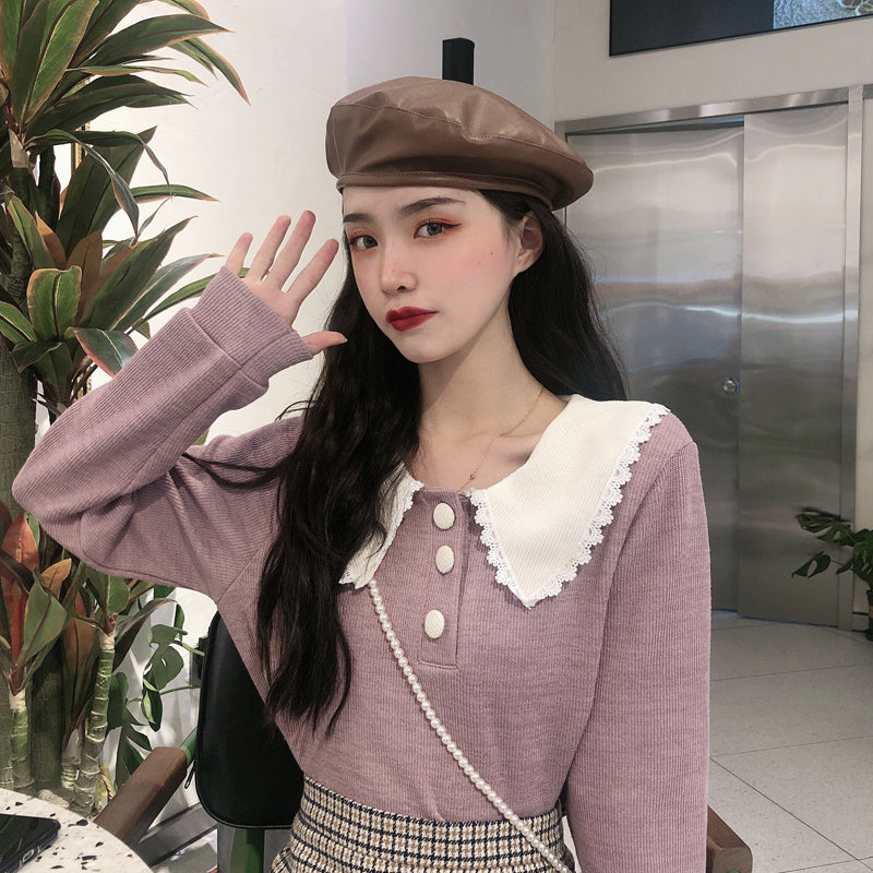 """DOLL COLLAR LONG SLEEVE"" SWEATER N101602"