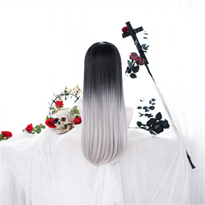 """LOLITA BLACK  WHITE GRADIENT"" WIG N101504"