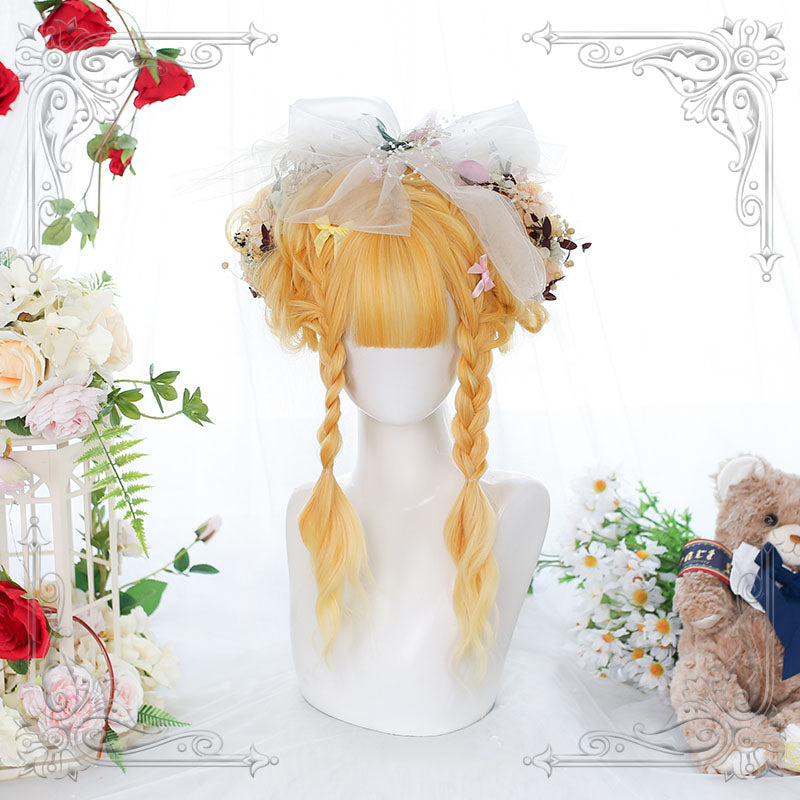"""LOLITA SUNFLOWER GRADIENT GOLDEN LONG CURLY"" WIG N090903"