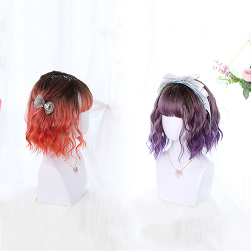 """LOLITA TWO COLOR SHORT CURLY"" WIG N102705"