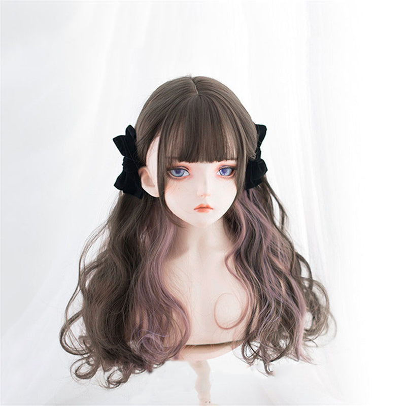 """LOLITA HIGHLIGHTING LONG CURLY"" WIG N091002"