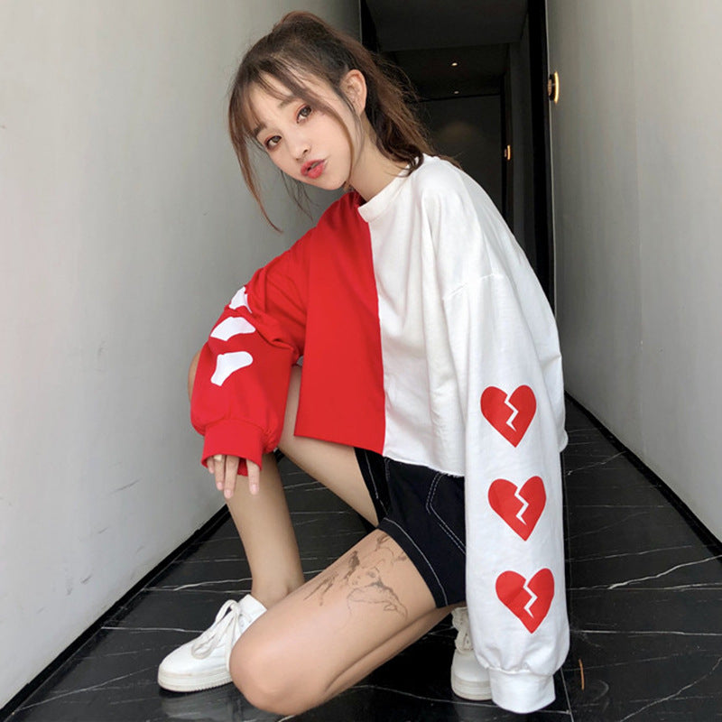 "[@beautyfromthorns] ""LOVE LOVE LOVE"" LONG SLEEVE K031801REVIEW"