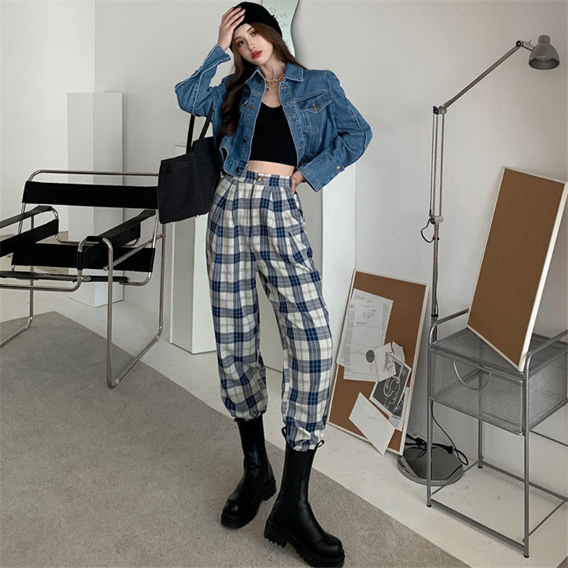"""BLUE PLAID"" PANTS N012011"
