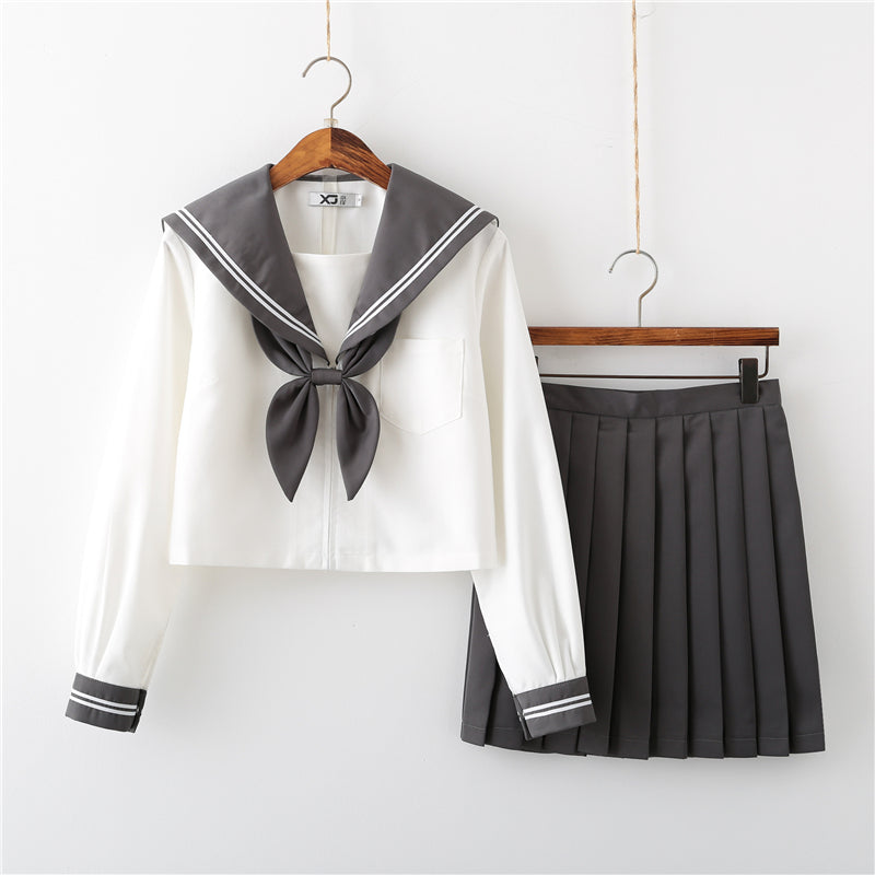 """JK GRAY DOUBLE STRIPES SAILOR"" SUIT N051301"