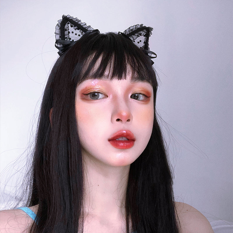 """BOW CAT EAR"" HEADBAND N102403"