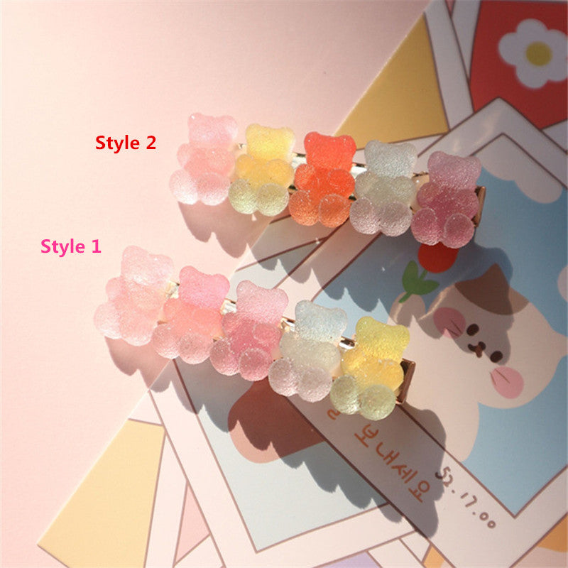 """BEAR CANDY COLORFUL GRADIENT"" HAIRPIN N031002"