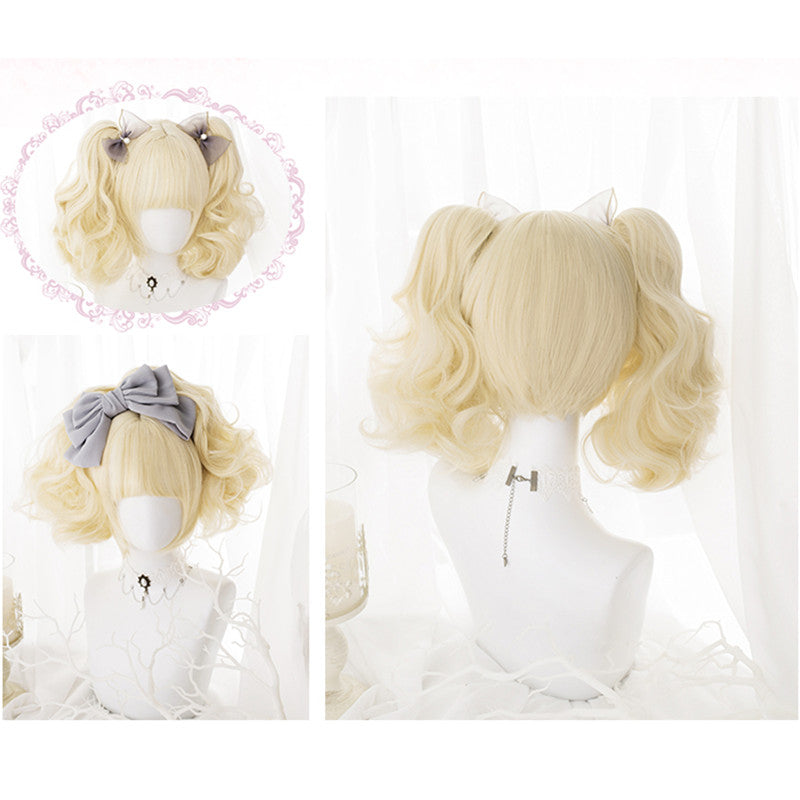 """LOLITA CREAM YELLOW PONYTAIL"" WIG N121407"