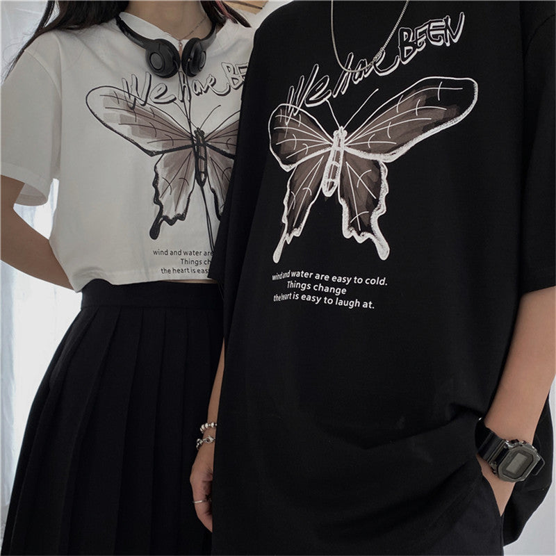 """BUTTERFLY PRINT LONG/SHORT"" T-SHIRT N072309"