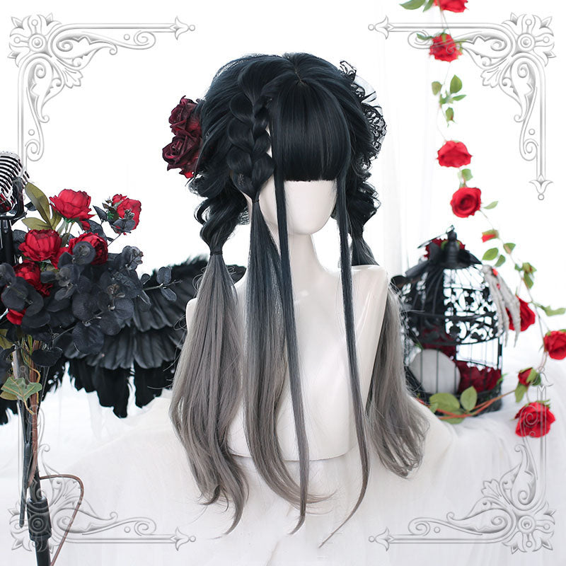 """LOLITA NATURAL GRADIENT GREY LONG CURLY"" WIG N090902"