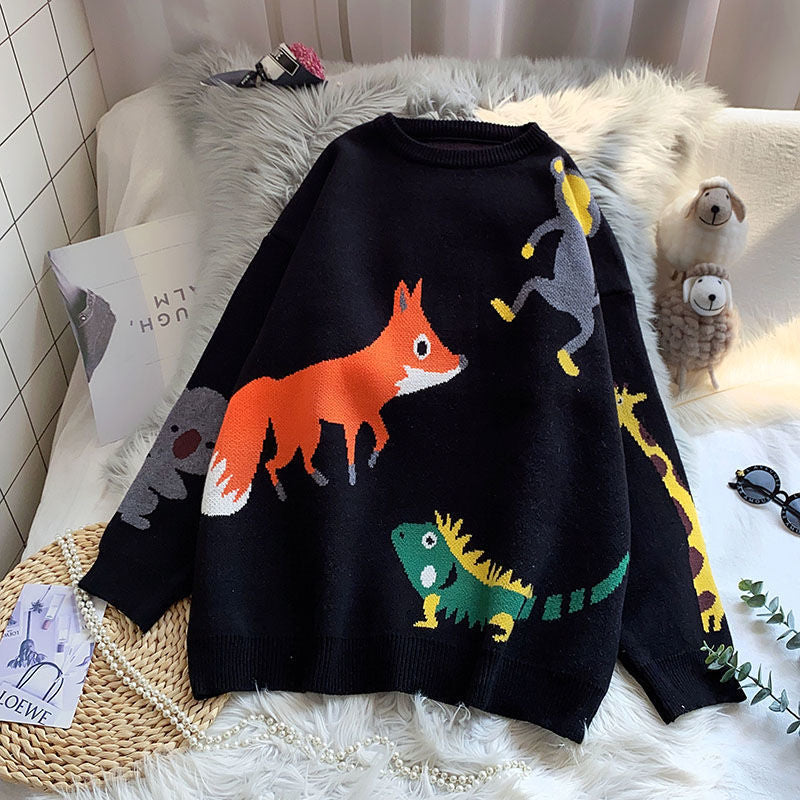 """FOX KNIT"" SWEATER N123105"