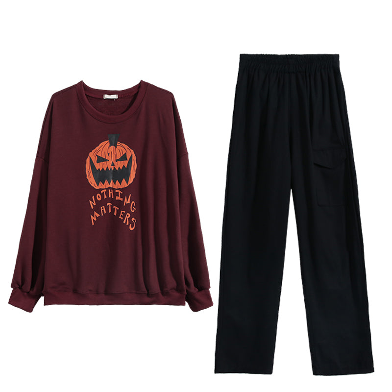 """NOTHING MATTERS"" SWEATSHIRT / PANTS N092302"